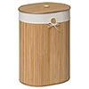 Saroma Oval Bamboo Laundry Hamper - Natural profile small image view 1