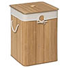 Saroma Square Bamboo Laundry Hamper - Natural profile small image view 1