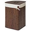 Saroma Corner Bamboo Laundry Hamper - Dark Brown profile small image view 1