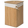 Saroma Corner Bamboo Laundry Hamper - Natural profile small image view 1