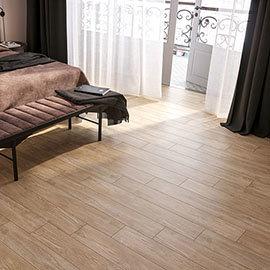 Sarenna Beige Wood Effect Floor Tiles - 150 x 900mm