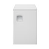 Hudson Reed Sarenna 300mm Wall Hung Side Unit - Moon White profile small image view 1