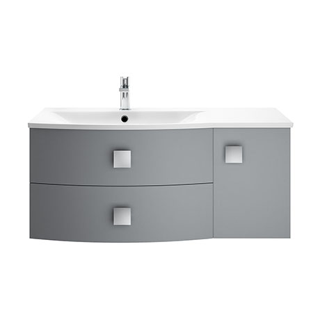 Hudson Reed Sarenna 1000mm Wall Hung Cabinet & Basin - Dove Grey