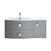 Hudson Reed Sarenna 1000mm Wall Hung Cabinet & Basin - Dove Grey profile small image view 1