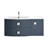Hudson Reed Sarenna 1000mm Wall Hung Cabinet & Basin - Mineral Blue profile small image view 1
