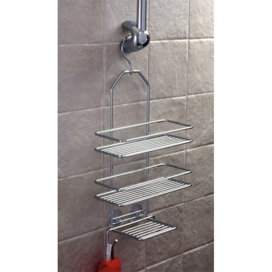 Satina hanging shower shelf unit 58390 at victorian