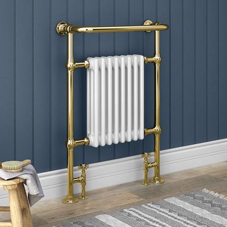 Savoy Vintage Gold Traditional Heated Towel Rail Radiator