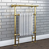 Savoy Vintage Gold Traditional Heated Towel Rail Radiator profile small image view 1