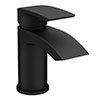 Nexus Matt Black Basin Mixer Tap Inc. Click Clack Waste profile small image view 1