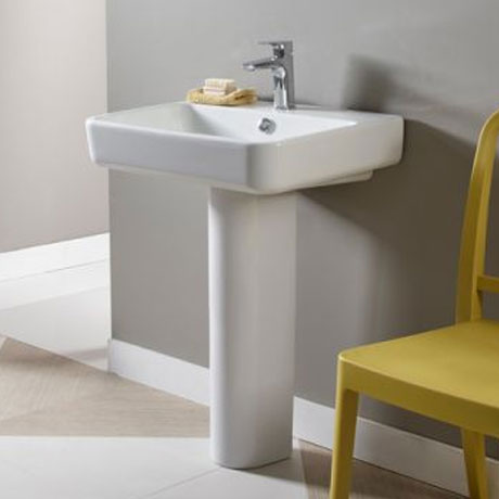 Tavistock Agenda Ceramic Basin & Pedestal Large Image