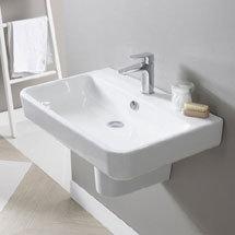 Tavistock Agenda Ceramic Basin & Semi-Pedestal Medium Image