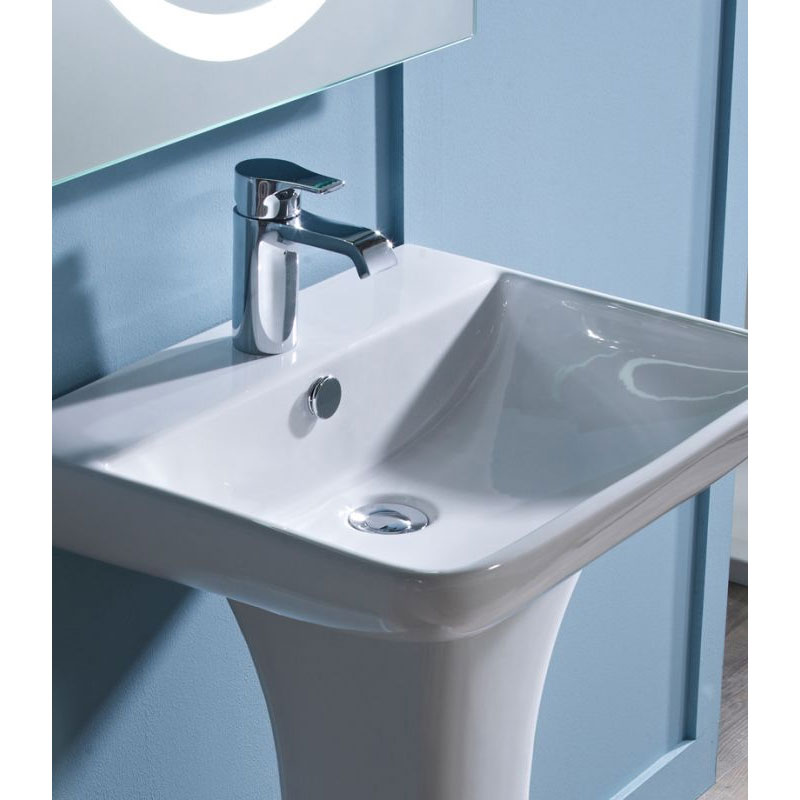 Tavistock Structure 550mm Ceramic Basin & Pedestal Profile Large Image