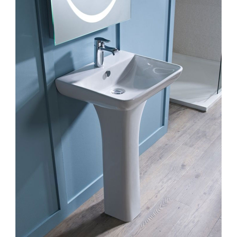 Tavistock Structure 550mm Ceramic Basin & Pedestal Feature Large Image