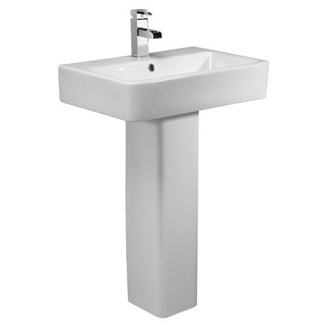 Tavistock Q60 575mm Ceramic Basin & Pedestal