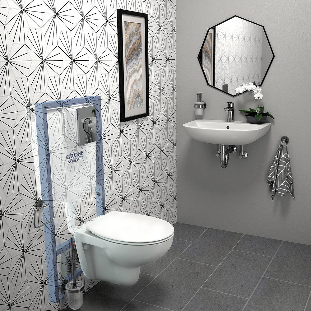 Grohe Solido Bau/Nova Cosmo COMPLETE Wall Hung Bathroom Suite