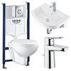 Grohe Solido Bau/Nova Cosmo COMPLETE Wall Hung Bathroom Suite profile small image view 1