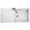 Rangemaster Scoria 1000 x 500mm Igneous Crystal White 1.0 Bowl Inset Sink - SCO1051CW profile small image view 1