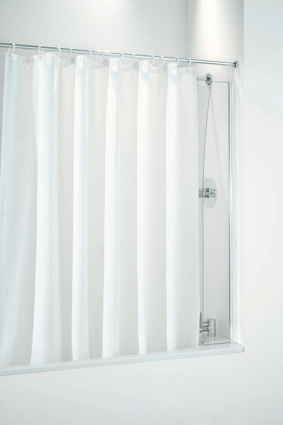 Coram - 250mm Shower Curtain Screen - 2 Colour Options profile large image view 1