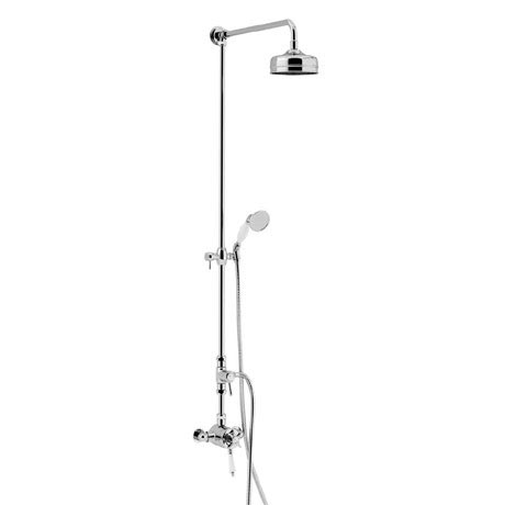 Heritage Dawlish Exposed Shower with Premium Fixed Riser Kit & Diverter to Handset - Chrome - SDCDUA