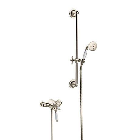 Heritage Dawlish Exposed Shower with Premium Flexible Riser Kit - Vintage Gold - SDCDUAL10
