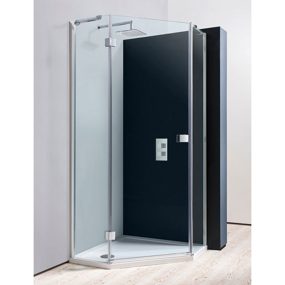 simpsons 900 x 900mm design pentagon enclosure w shower tray waste at victorian plumbing uk. Black Bedroom Furniture Sets. Home Design Ideas