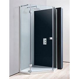 Crosswater 900 x 900mm Design Pentagon Enclosure (inc. Shower Tray + Waste)