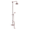 Heritage Dawlish Exposed Shower with Premium Fixed Riser Kit & Diverter to Handset - Rose Gold - SDRGDUAL07 profile small image view 1
