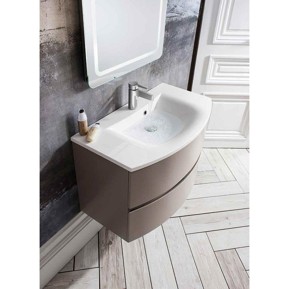 Bauhaus - Svelte Two Drawer Vanity Unit & Basin - Matt Coffee Profile Large Image