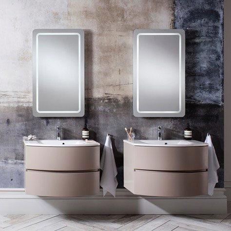 Bauhaus - Svelte Two Drawer Vanity Unit & Basin - Matt Coffee Standard Large Image