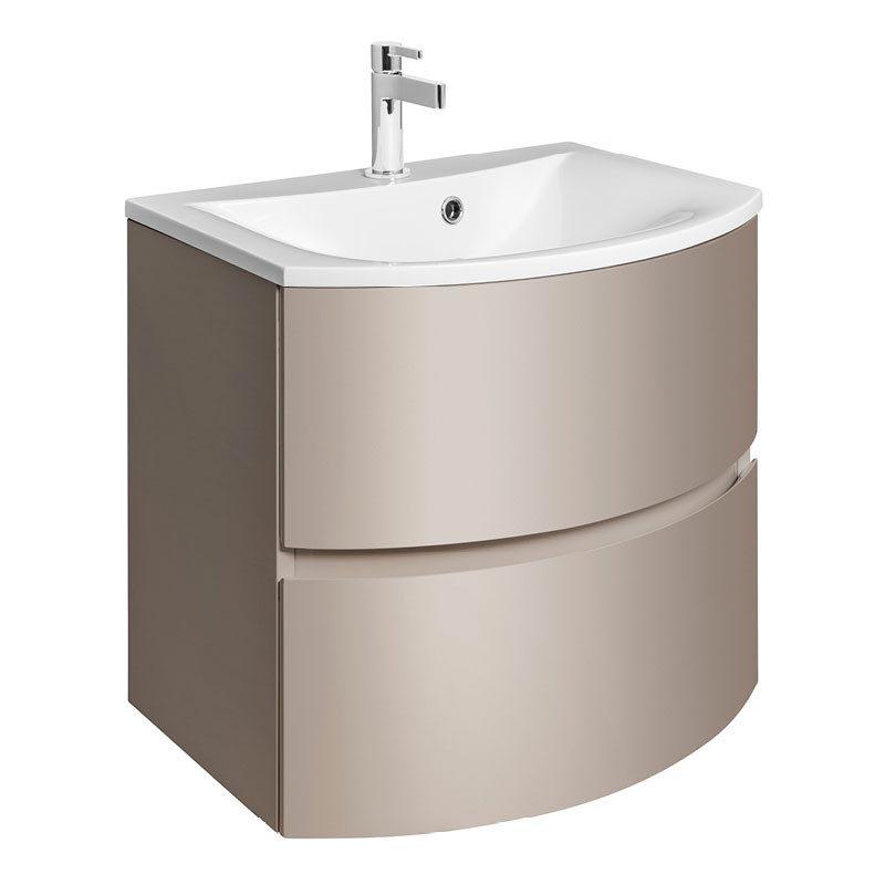 Bauhaus - Svelte Two Drawer Vanity Unit & Basin - Matt Coffee Large Image
