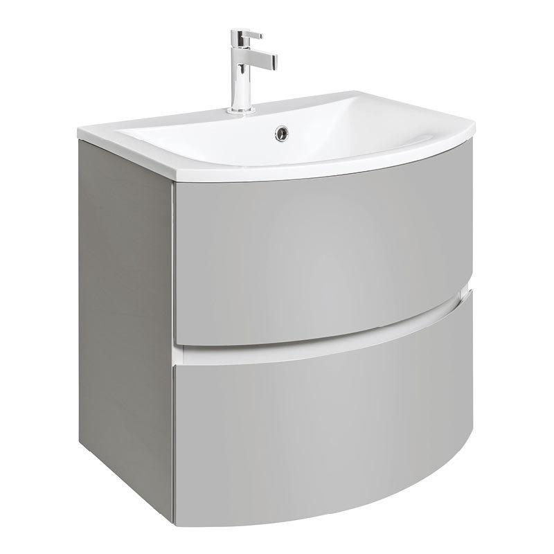 Bauhaus Svelte Two Drawer Vanity Unit & Basin - Storm Grey Matt