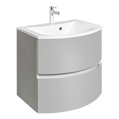 Bauhaus Svelte Two Drawer Vanity Unit & Basin - Storm Grey Matt