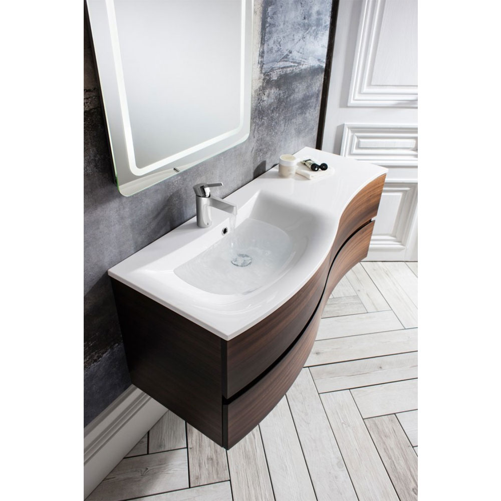 Bauhaus - Svelte Two Drawer Vanity Unit & Basin - Eucalyptus profile large image view 2