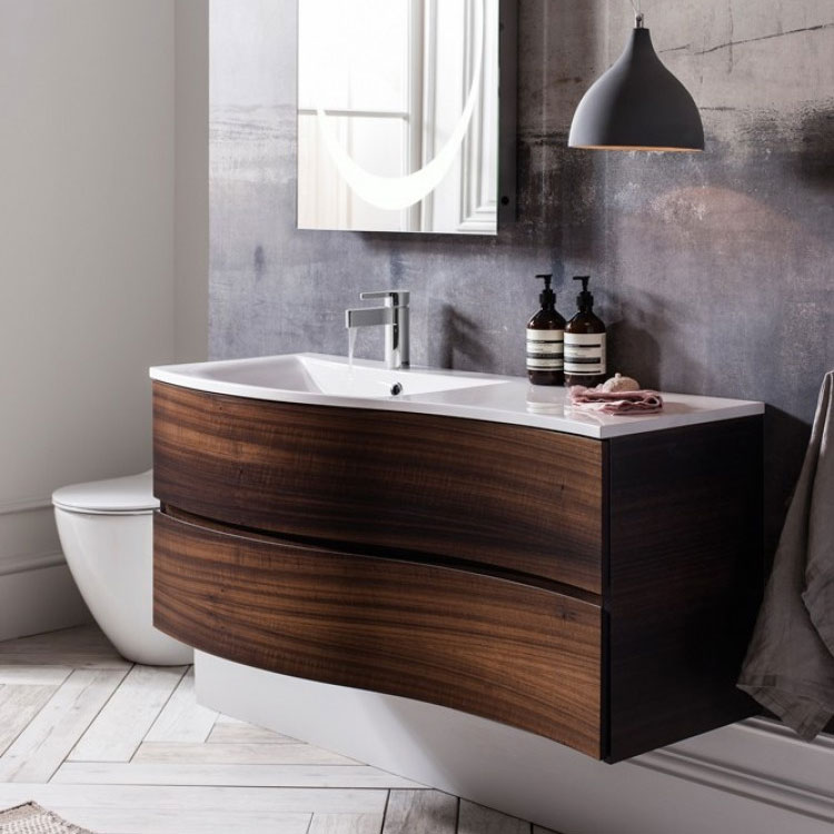Bauhaus - Svelte Two Drawer Vanity Unit & Basin - Eucalyptus profile large image view 4