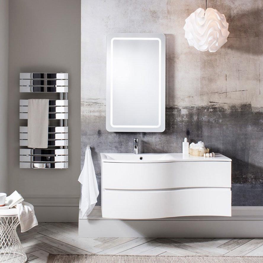 Bauhaus - Svelte Two Drawer Vanity Unit & Basin - White Gloss profile large image view 3