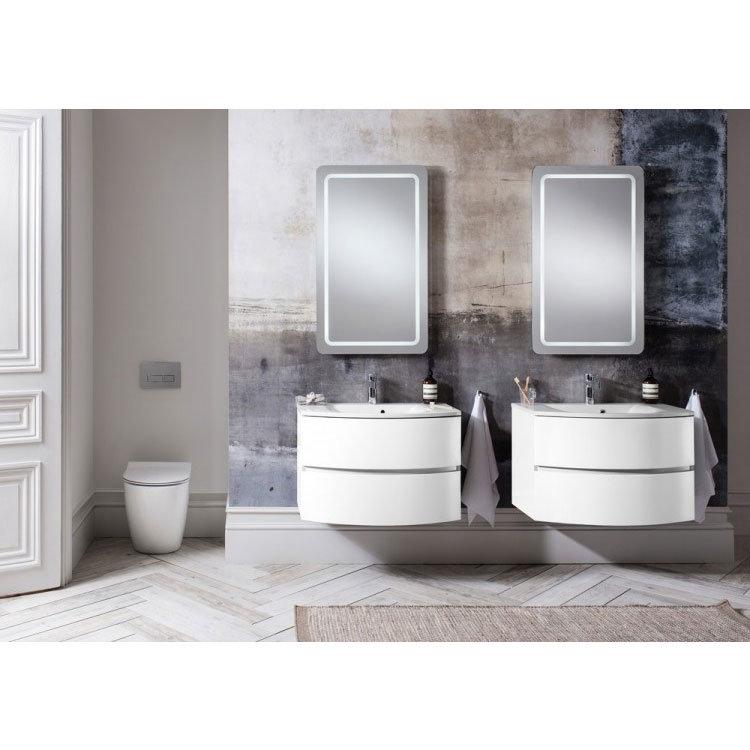 Bauhaus - Svelte Two Drawer Vanity Unit & Basin - White Gloss profile large image view 7