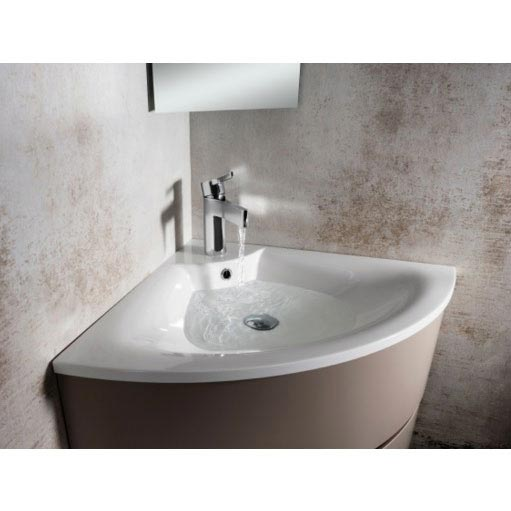 Bauhaus - Svelte Two Drawer Corner Unit & Basin - Eucalyptus Feature Large Image