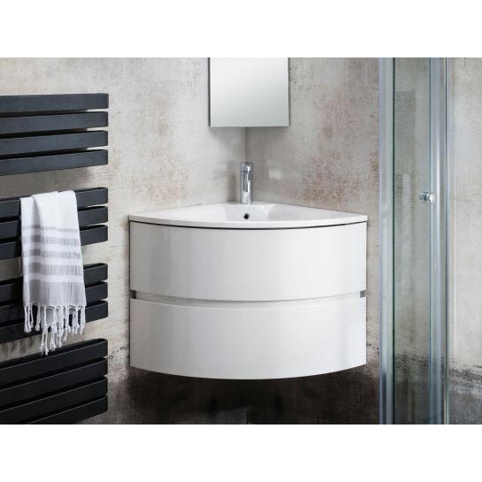 Bauhaus - Svelte Two Drawer Corner Unit & Basin - Eucalyptus Standard Large Image