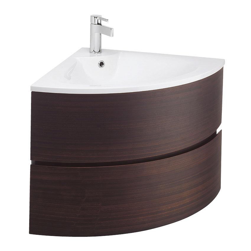 Bauhaus - Svelte Two Drawer Corner Unit & Basin - Eucalyptus Large Image