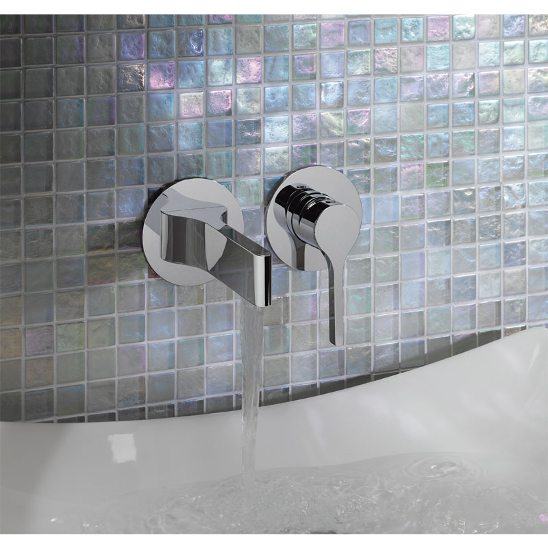 Crosswater - Svelte Wall Mounted 2 Hole Set Basin Mixer - SE120WNC profile large image view 2