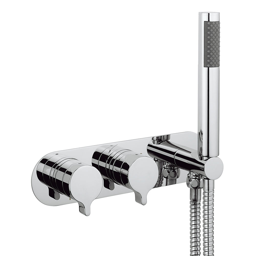 Crosswater - Svelte Wall Mounted Thermostatic Shower Valve with Handset - SE1701RC Large Image