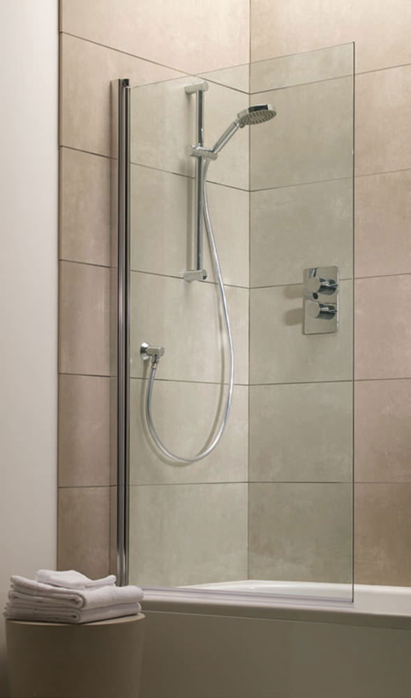 Tavistock Rectangular Bath Screen - 800 x 1500mm Large Image