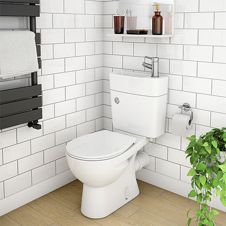 Seattle Combined Two-In-One Wash Basin + Toilet
