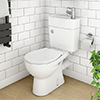Seattle Combined Two-In-One Wash Basin + Toilet profile small image view 1