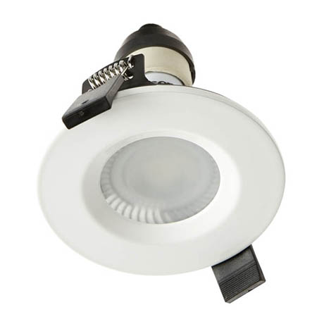 Hudson Reed White Shower Light Fitting - SE30014W0