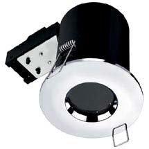 Hudson Reed Chrome Fire & Acoustic Shower Light Fitting - SE30042W0 Medium Image