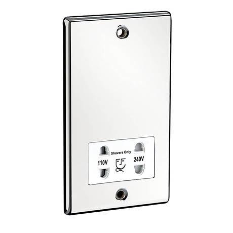 Sensio Dual Voltage Shaver Socket - Chrome - SE3014200