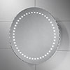 Sensio Orla Round Slimline LED Mirror with Demister Pad - SE30516C0 profile small image view 1