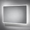 Sensio Glimmer 900 x 600mm Dimmable LED Mirror with Demister Pad - SE30736C0 profile small image view 1