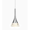 Sensio Zirconia Crushed Crystal Single Drop Cone Pendant Light - SE32101W0 profile small image view 1